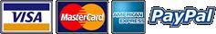 Visa, AMEX, Paypal, Mastercard